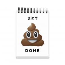 Office Supplies - Get It Done Emoji Spiral Jotter