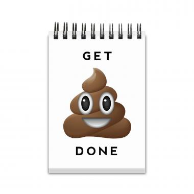 Get It Done Emoji Spiral Jotter