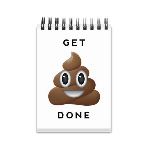 Get It Done Emoji Spiral Jotter