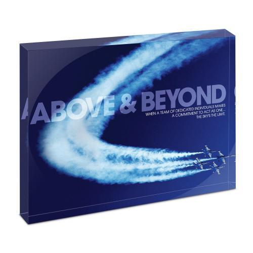 Above & Beyond Infinity Edge Acrylic Desktop