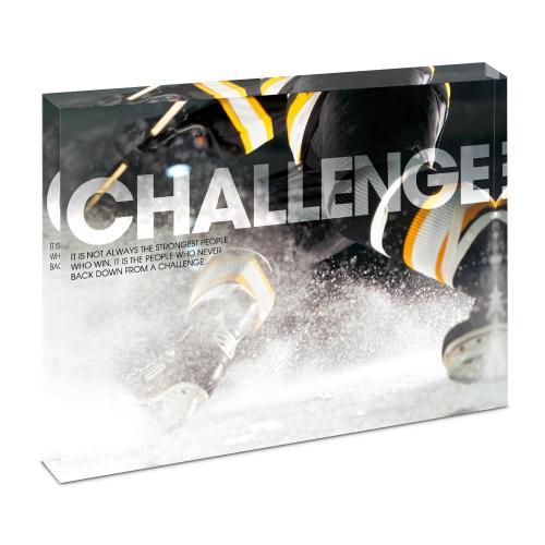 Challenge Hockey Infinity Edge Acrylic Desktop