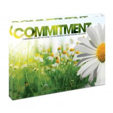 Modern Motivation - Commitment Daisy Infinity Edge Acrylic Desktop