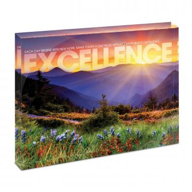 Excellence Sunrise Mountain Infinity Edge Acrylic Desktop