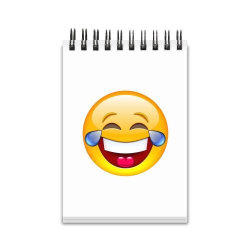 Laughing Emoji Spiral Jotter