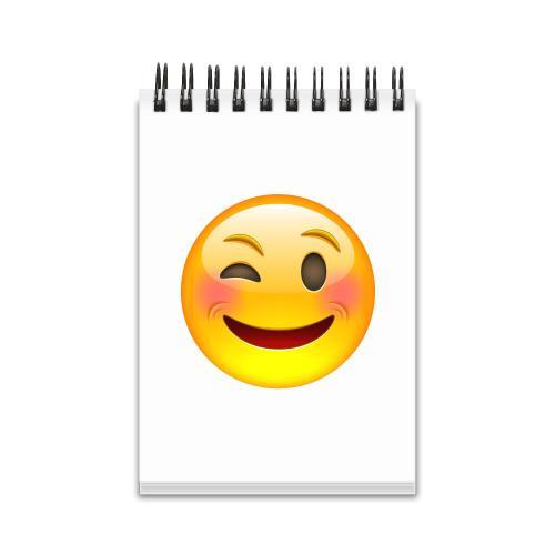 Winking Emoji Spiral Jotter