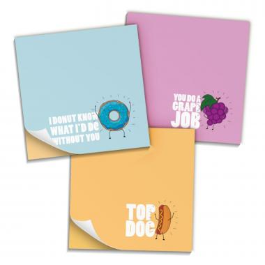Praise Puns Variety Sticky Notes 3-Pack