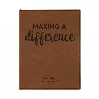 Making a Difference Personalized Vegan Leather Padfolio