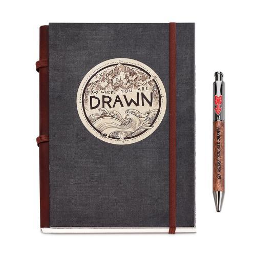 Go Where Drawn Journal & Pen Gift Set