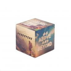 Wood Paperweights - Above & Beyond Motivational Wooden Building Block