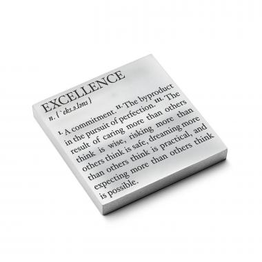 Excellence Definition - Personalized Metal Paperweights