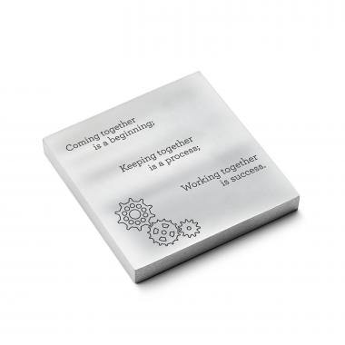 Working Together - Personalized Metal Paperweights