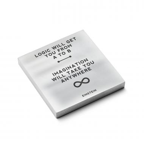 Einstein Imagination - Personalized Metal Paperweight