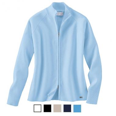 IL Migliore<sup>&reg;</sup> - S-XL -  Ladies' cardigan sweater with two way zipper