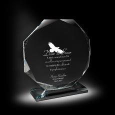 Glass Trophies - Inclination Glass Award