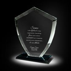 Glass Trophies - Velocity Glass Award