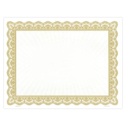 Gold Bright Impressions Certificate Paper