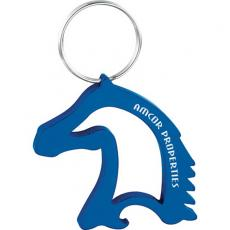 Key Holders General - Aluminum, horse head-shaped bottle / can opener