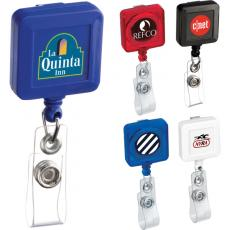 Tradeshow & Event Supplies - Square retractable badge holder with belt clip