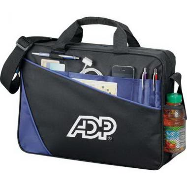 Angle - Computer briefcase made of 600d polycanvas and ripstop nylon. Holds 15