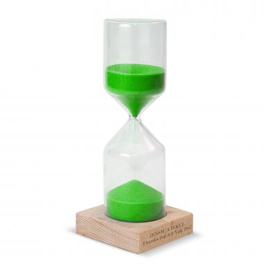 Green Personalized Sand Timer