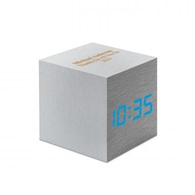 Metal Personalized Touch Cube Clock