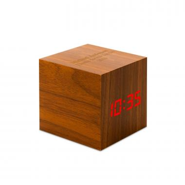 Wood Personalized Touch Cube Clock