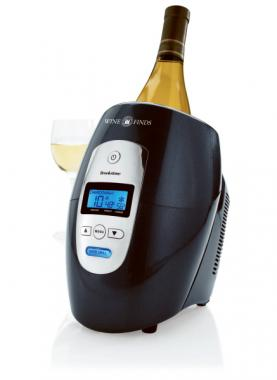 Brookstone<sup>&reg;</sup> - ABS plastic with aluminum sleeve iceless wine chiller