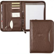 "Office Supplies - Deluxe executive vintage leather padfolio with 8 1/2"" x 11"" paper pad"
