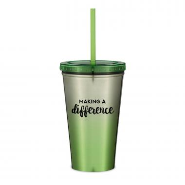 Making a Difference 16oz Ombre Straw Tumbler