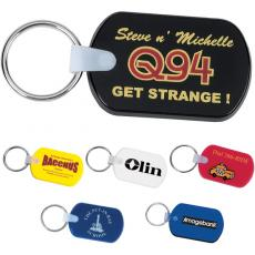 Key Holders General - Rectangular soft key tag is thick and pliable. Includes metal split key ring