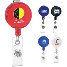 Tradeshow & Event Supplies - Round badge holder with belt clip
