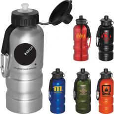 Bottles General - Sahara - Light weight aluminum 20 oz sports bottle with 6mm carabiner and strap
