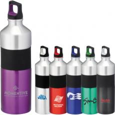Bottles General - Nassau - 25-oz Aluminum sports bottle with twist on lid and center rubberized grip