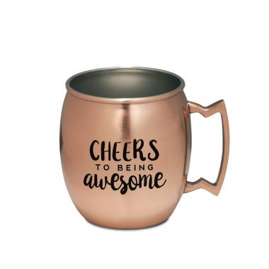 Cheers to Being Awesome Moscow Mule Mug