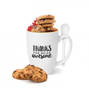 Thanks for Being Awesome Gold Rimmed Bistro Mug