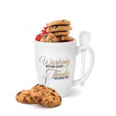 Working With You is a Gift Golden Bistro Mug