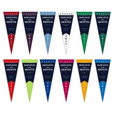 Perpetual Awards Programs - Employee of the Month Praise Pennants Pack