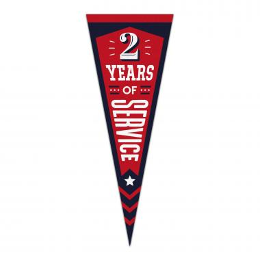 2 Years of Service Praise Pennant