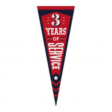 3 Years of Service Praise Pennant