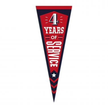 4 Years of Service Praise Pennant