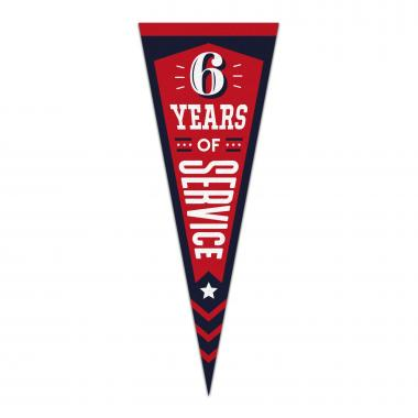 6 Years of Service Praise Pennant