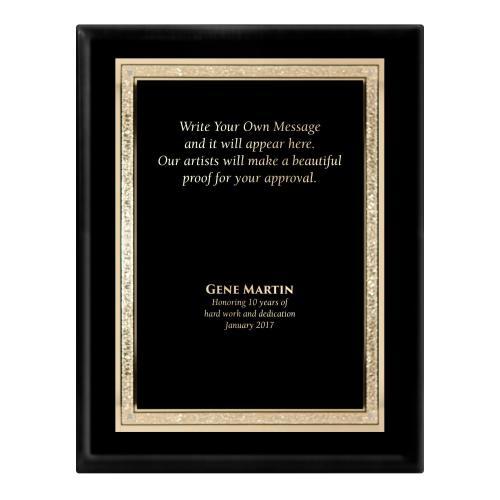 Ebony Traditional Engraved Plaque Award