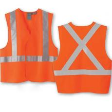 Vests General - North End<sup>®</sup> - 4XL/5XL -  Safety vest with X pattern on back