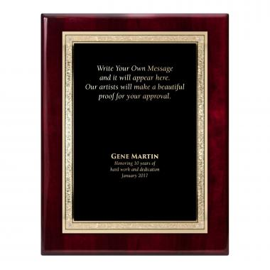 Rosewood Traditional Engraved Plaque Award