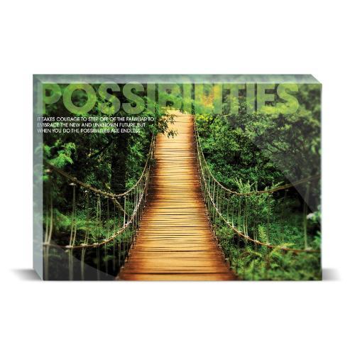 Possibilities Wooden Bridge Motivational Art