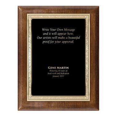 Walnut Traditional Engraved Plaque Award