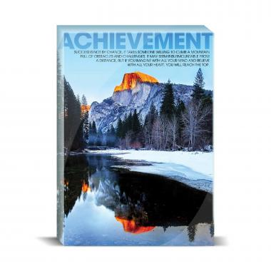 Achievement Mountain Motivational Art