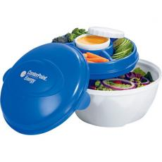 Bowls - Cool Gear<sup>®</sup> - Deluxe salad kit with freezable gel tray that keeps your salad and dressing cold