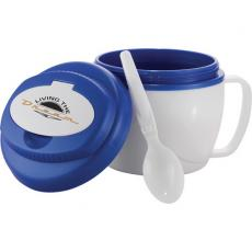 Bowls - Cool Gear<sup>®</sup>;Soup To Go - Insulated bowl with built-in handle and folding spoon, microwave safe, 18 oz