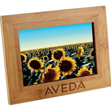 Bamboo photo frame. Holds standard 4